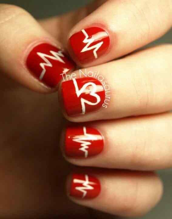 Unas color rojo - red nails art (6)