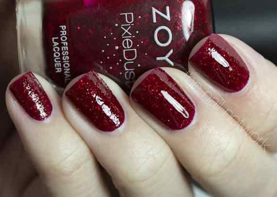 Unas color rojo - red nails art (62)