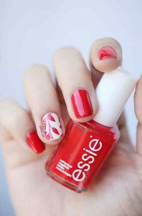 Unas color rojo - red nails art (63)