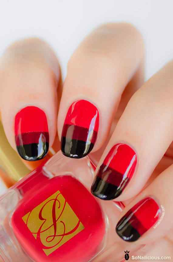 Unas color rojo - red nails art (64)