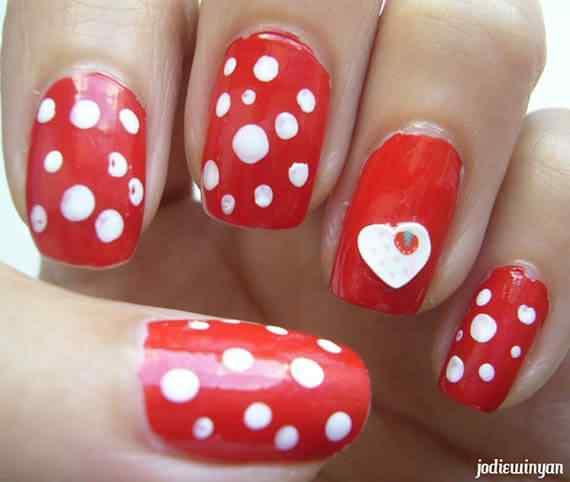 Unas color rojo - red nails art (67)