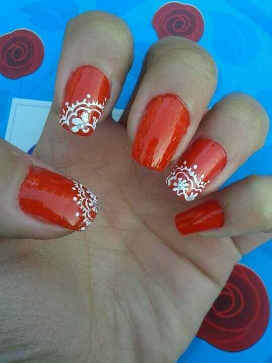 Unas color rojo - red nails art (7)