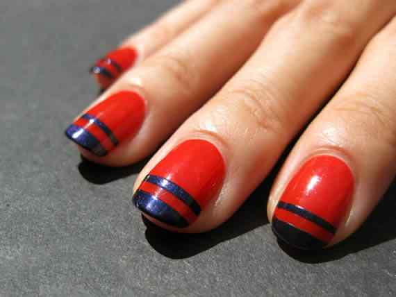Unas color rojo - red nails art (8)