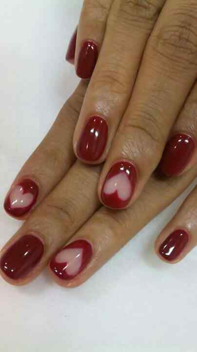 Unas color rojo - red nails art (9)