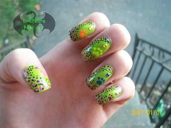 Fotos de unas color verde (4)