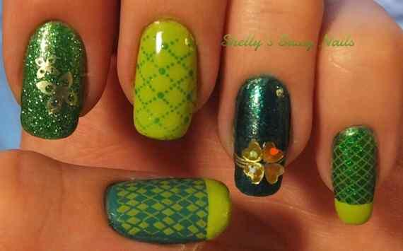 Green nails photos (11)