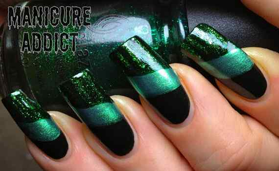 Green nails photos (16)