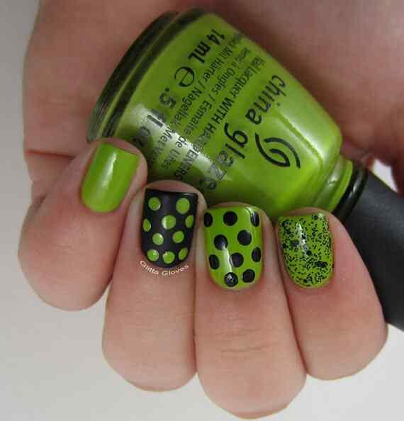 Green nails photos (7)