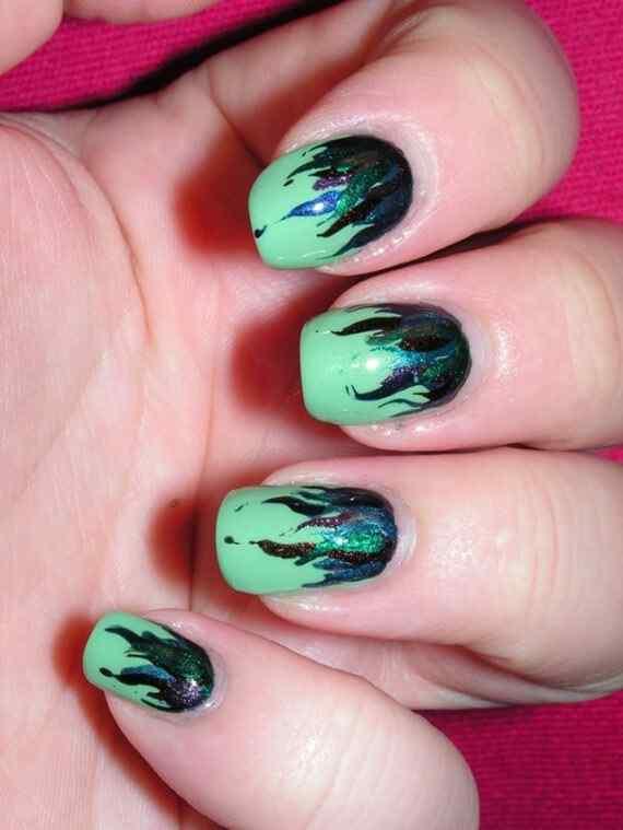 Unas color verde (23)