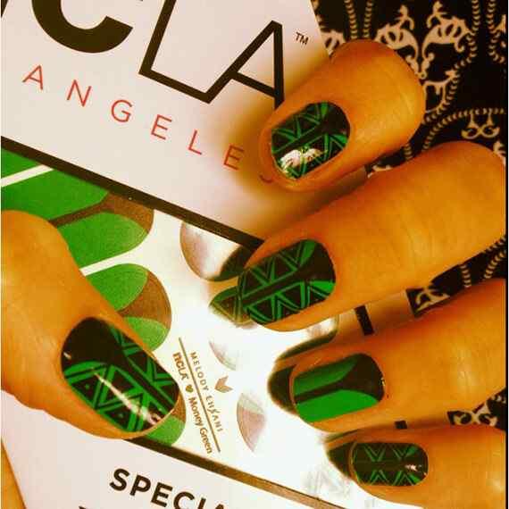 decoracion de unas verdes - green nails