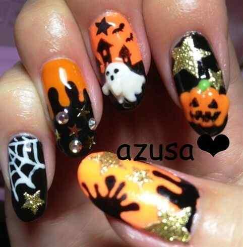 nueva decoracion unas halloween (2)