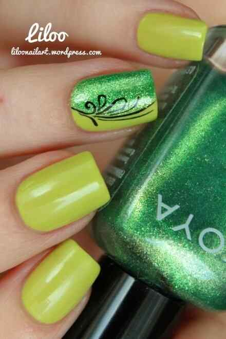 Green nails photos (13)