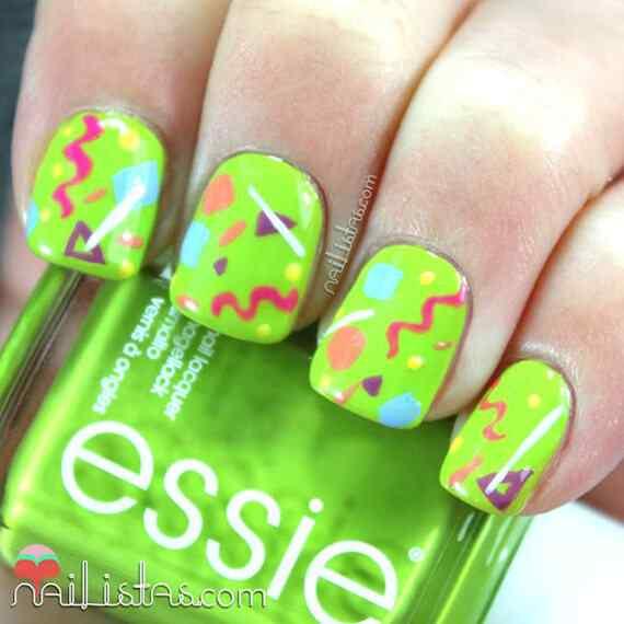 Green nails photos (20)