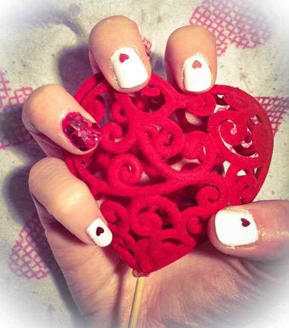 Love Nails Valentin Day nails (14)