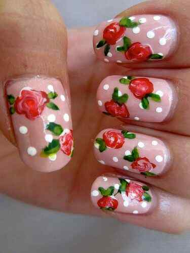 decorar unas con flores (13)