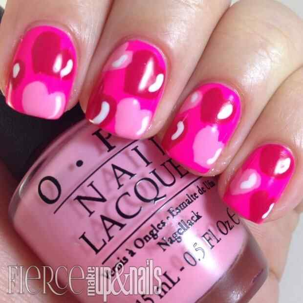 love nails valentin day (1)
