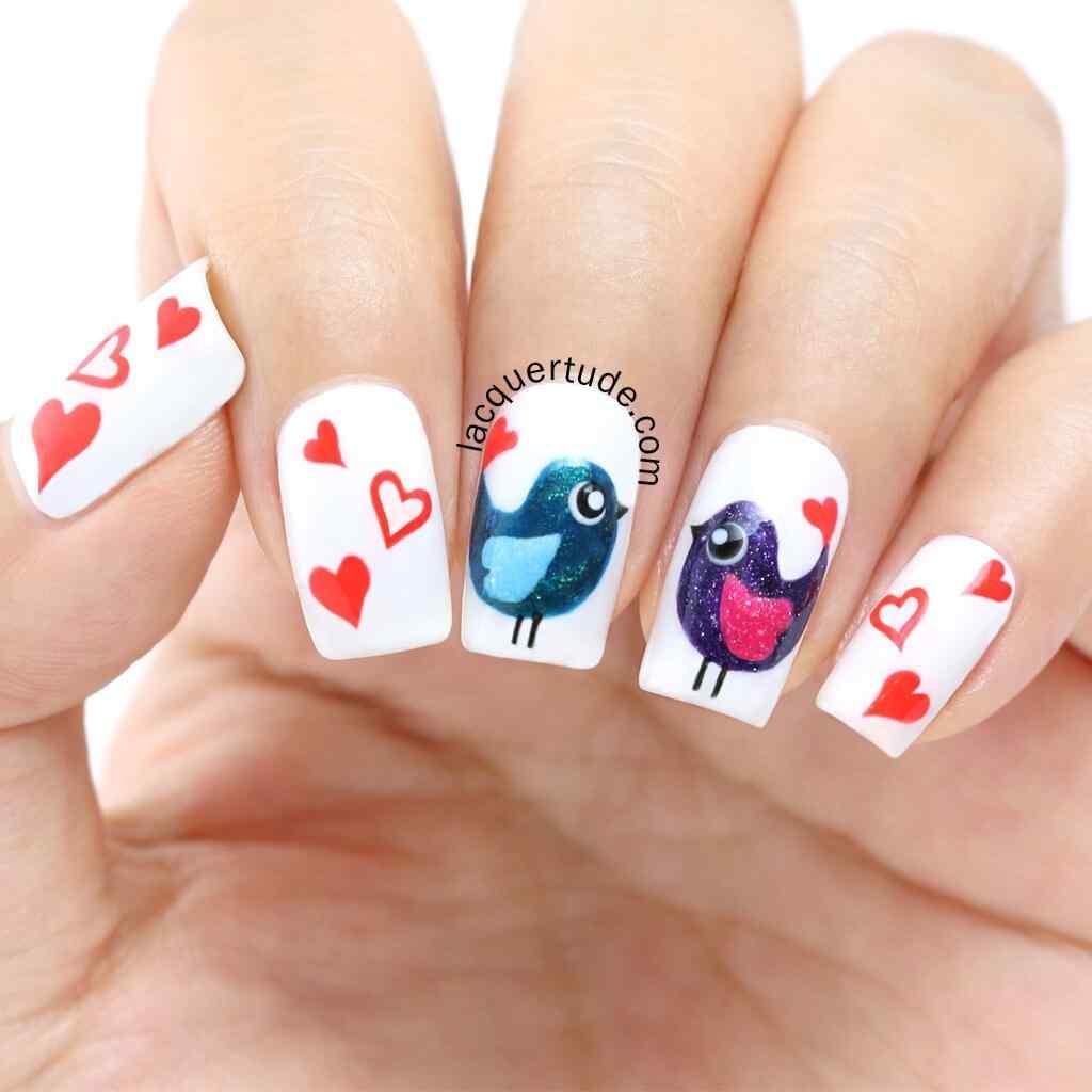 love nails valentin day (14)