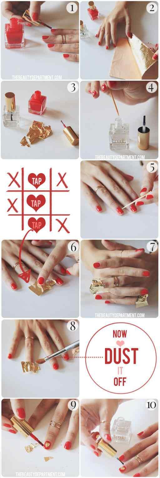 love nails valentin day (3)