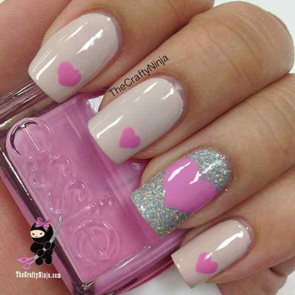 love nails valentin day (9)
