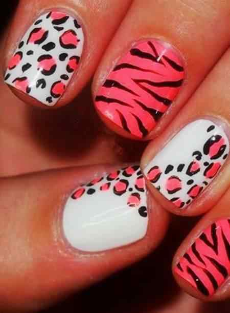 animal print nails images (13)