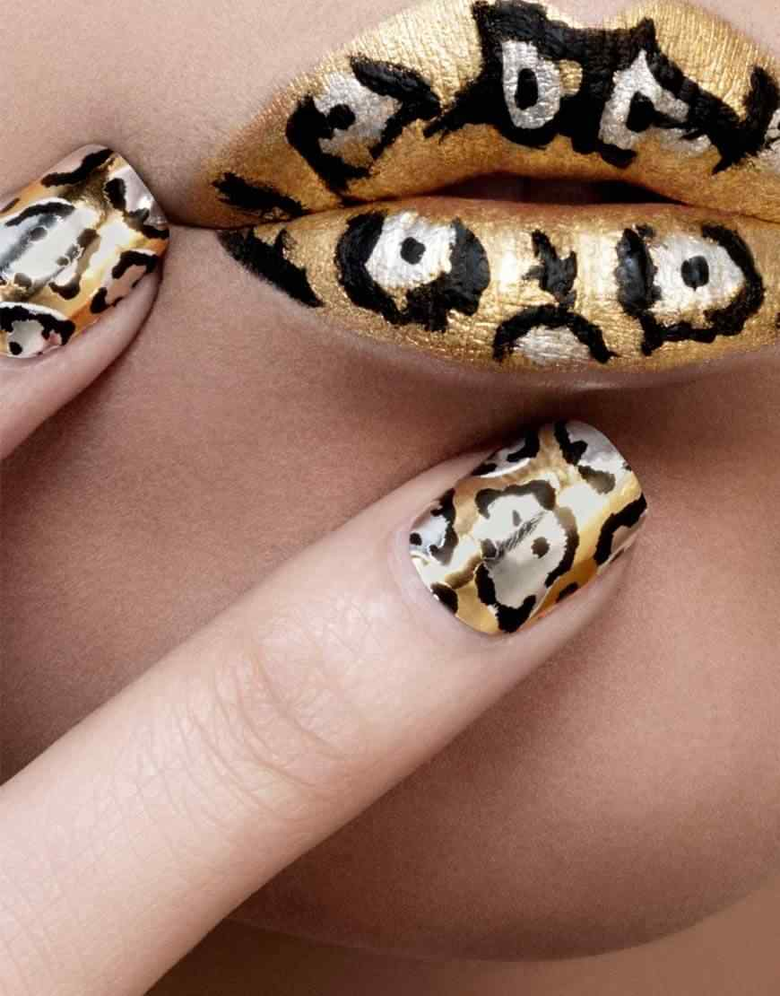 animal print nails images (3)