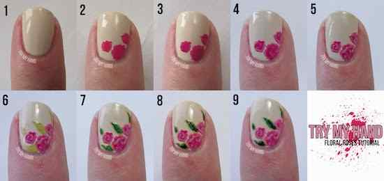 nail-design-tutorials-general-splendid-pink-floral-rose-with-green-leaves-nail-art-polish-tutorial-step-by-step-nail-art-designs-step-by-step-at-home