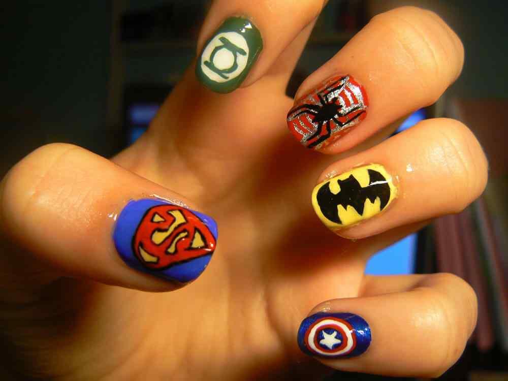 Decoracion unas superheroes