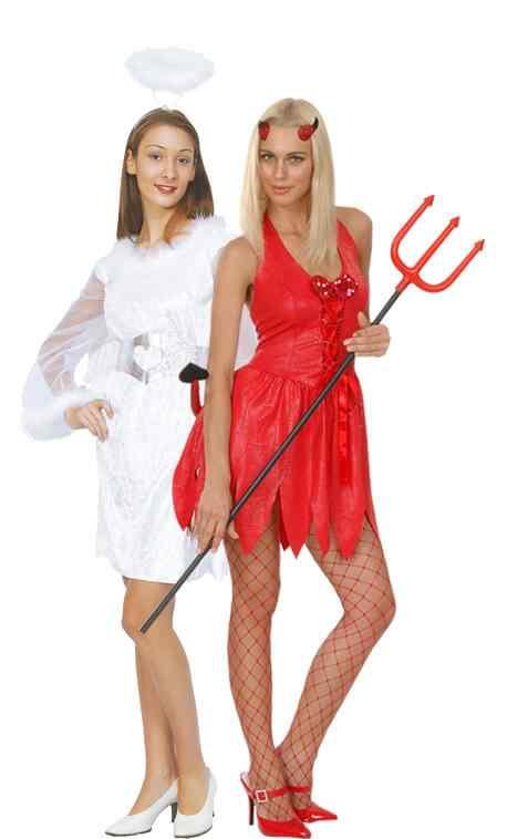 Disfraces halloween parejas angeli diablo