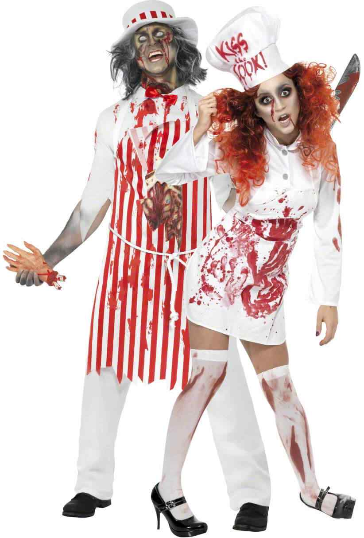 Disfraces halloween parejas enfermera zombie