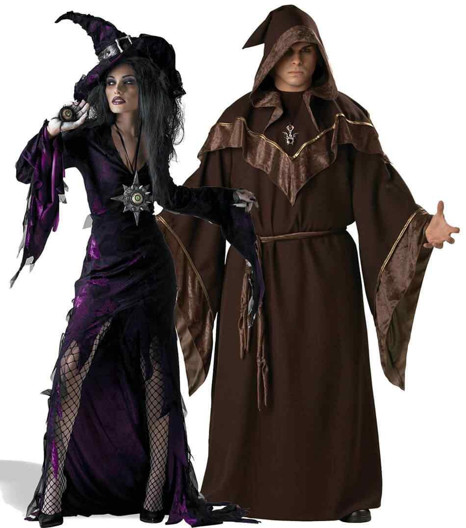 Disfraces halloween parejas hechiceros
