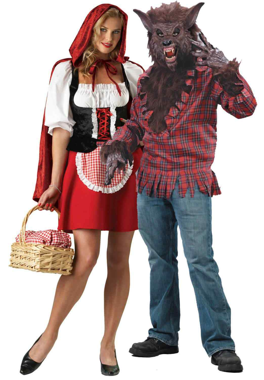 Disfraces halloween parejas lobo caperucita