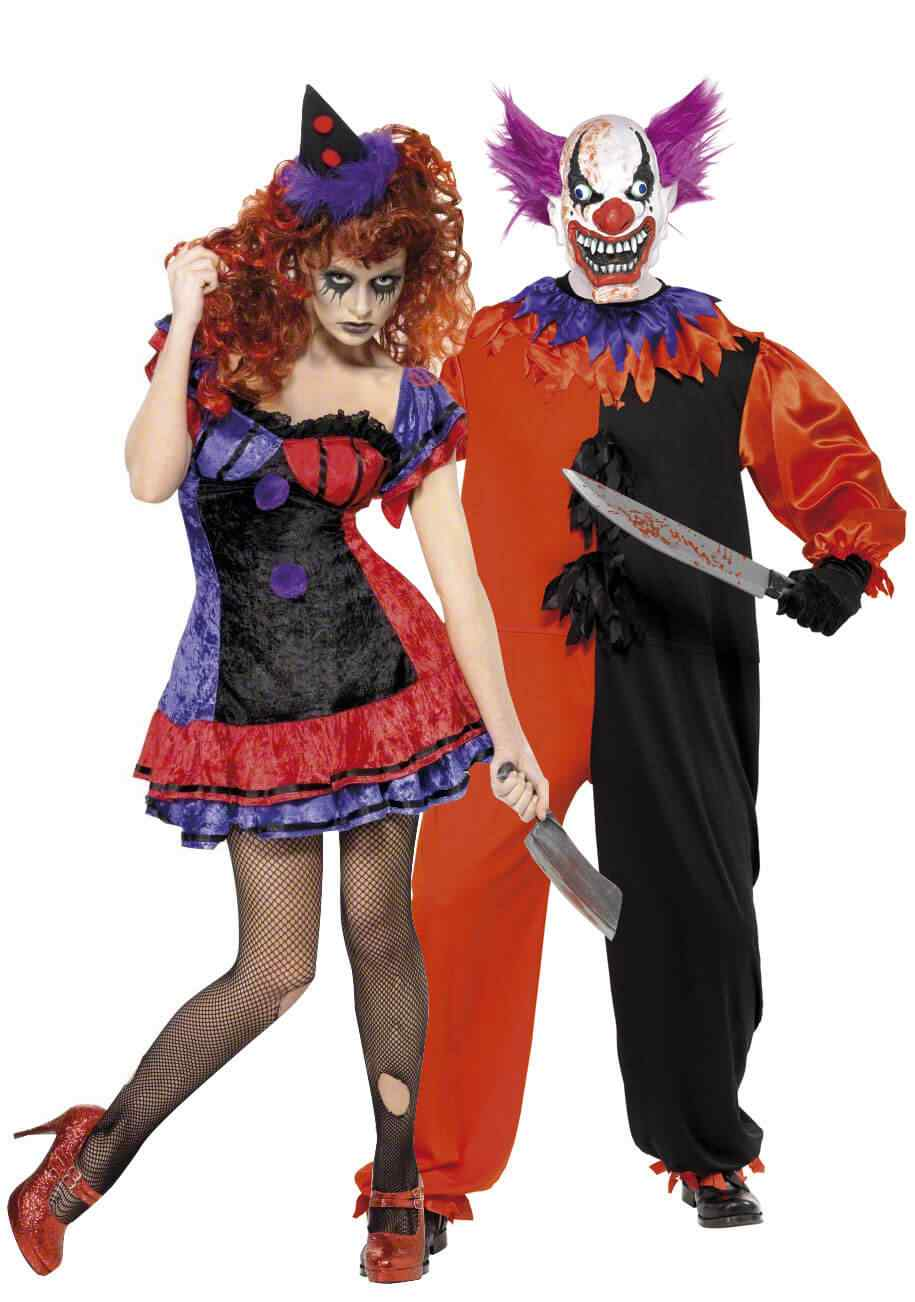 Disfraces halloween parejas payaso asesino