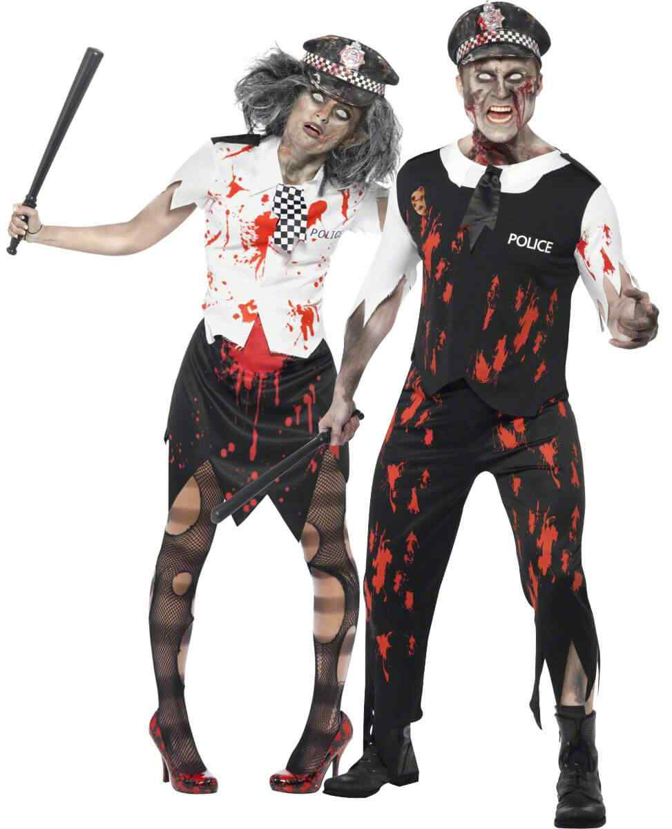 Disfraces halloween parejas policia zombie