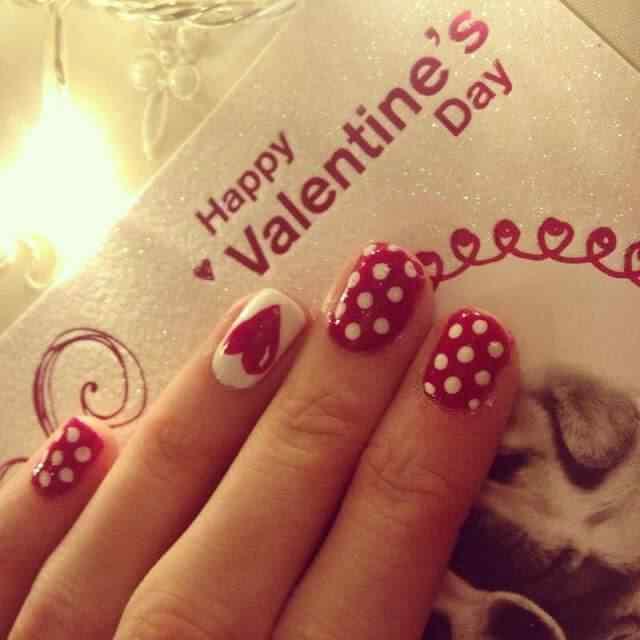 unas decoradas amor corazones (2)