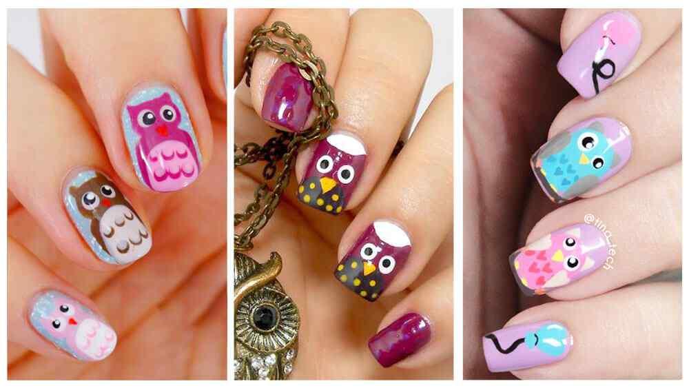 unas-decoradas-con-buhos-nail-art