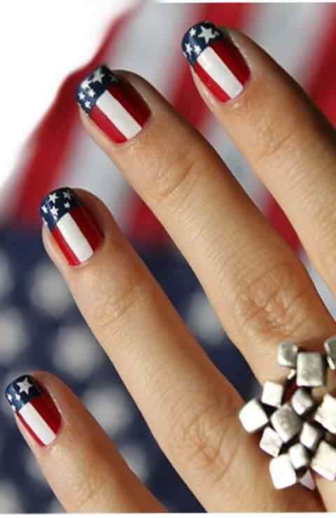 4TH of july nails (1)