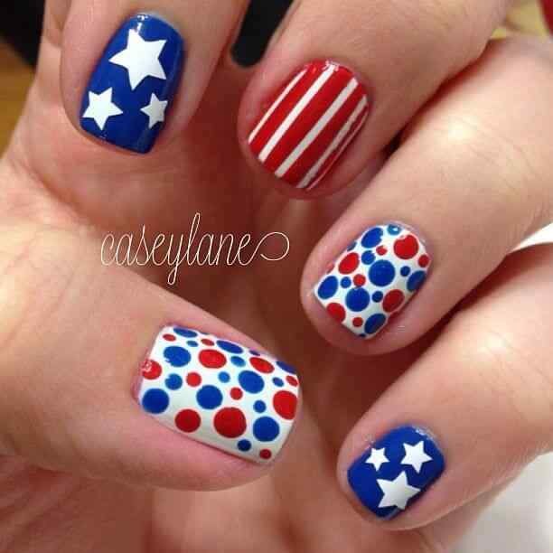 4TH of july nails (2)