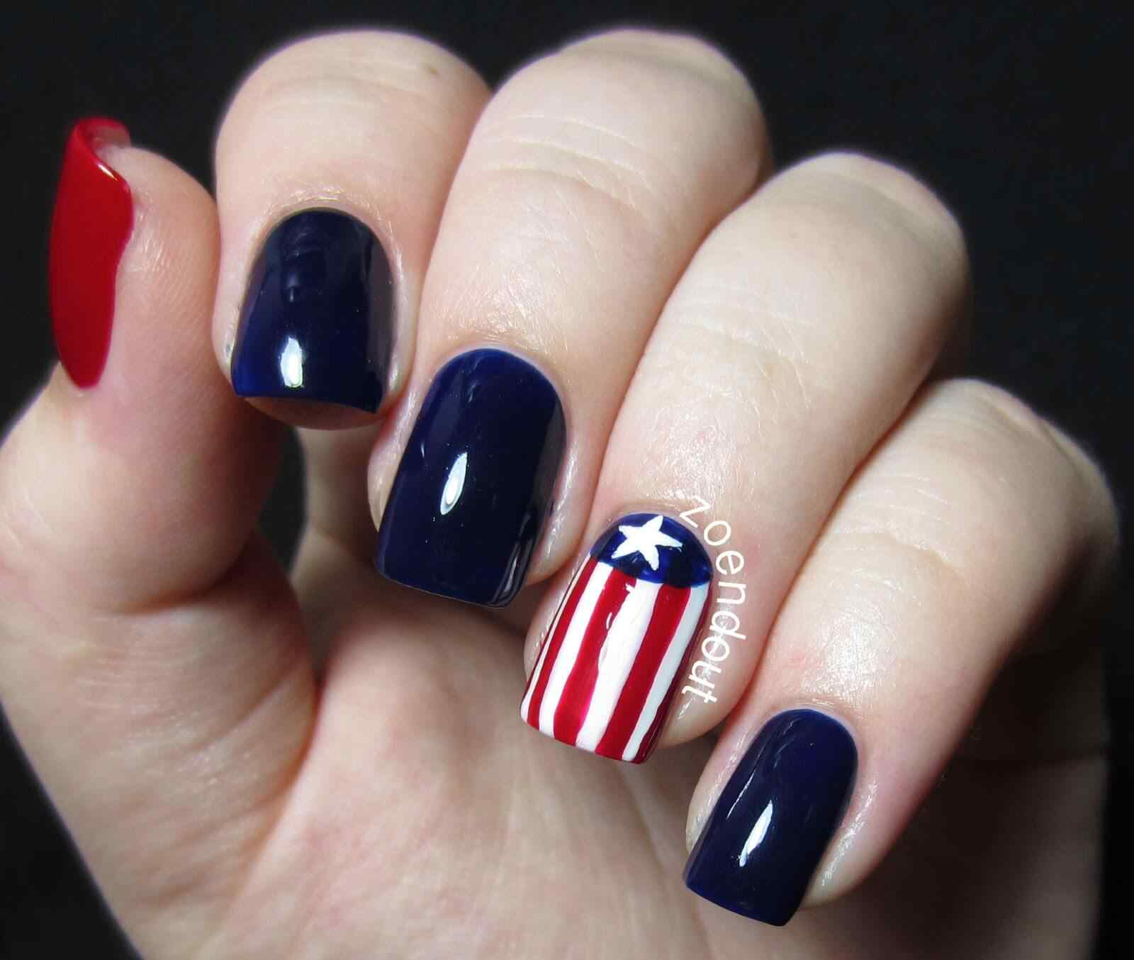 4TH of july nails (4)