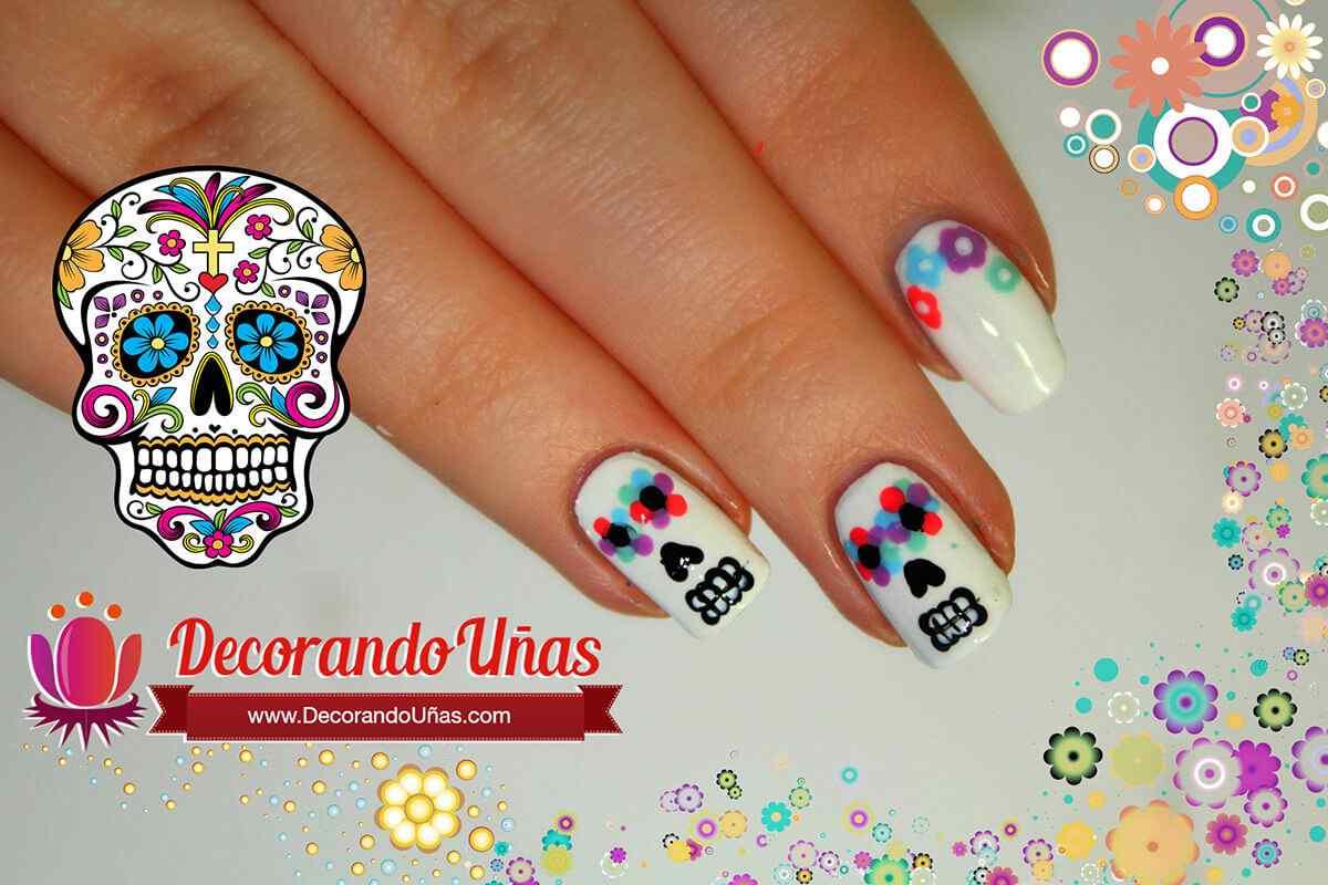 calaveras-mexicanas-nail-art