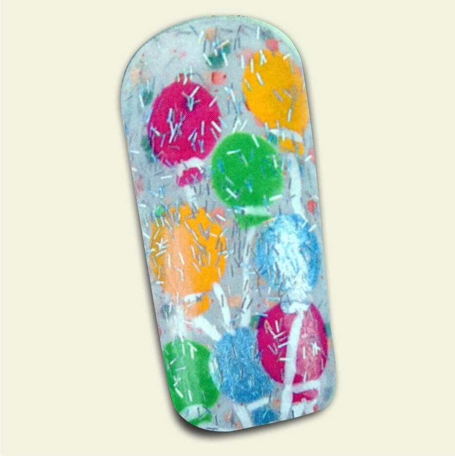 uñas tradicionales con globos