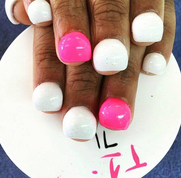 Bubble finger Nails nailart (3)