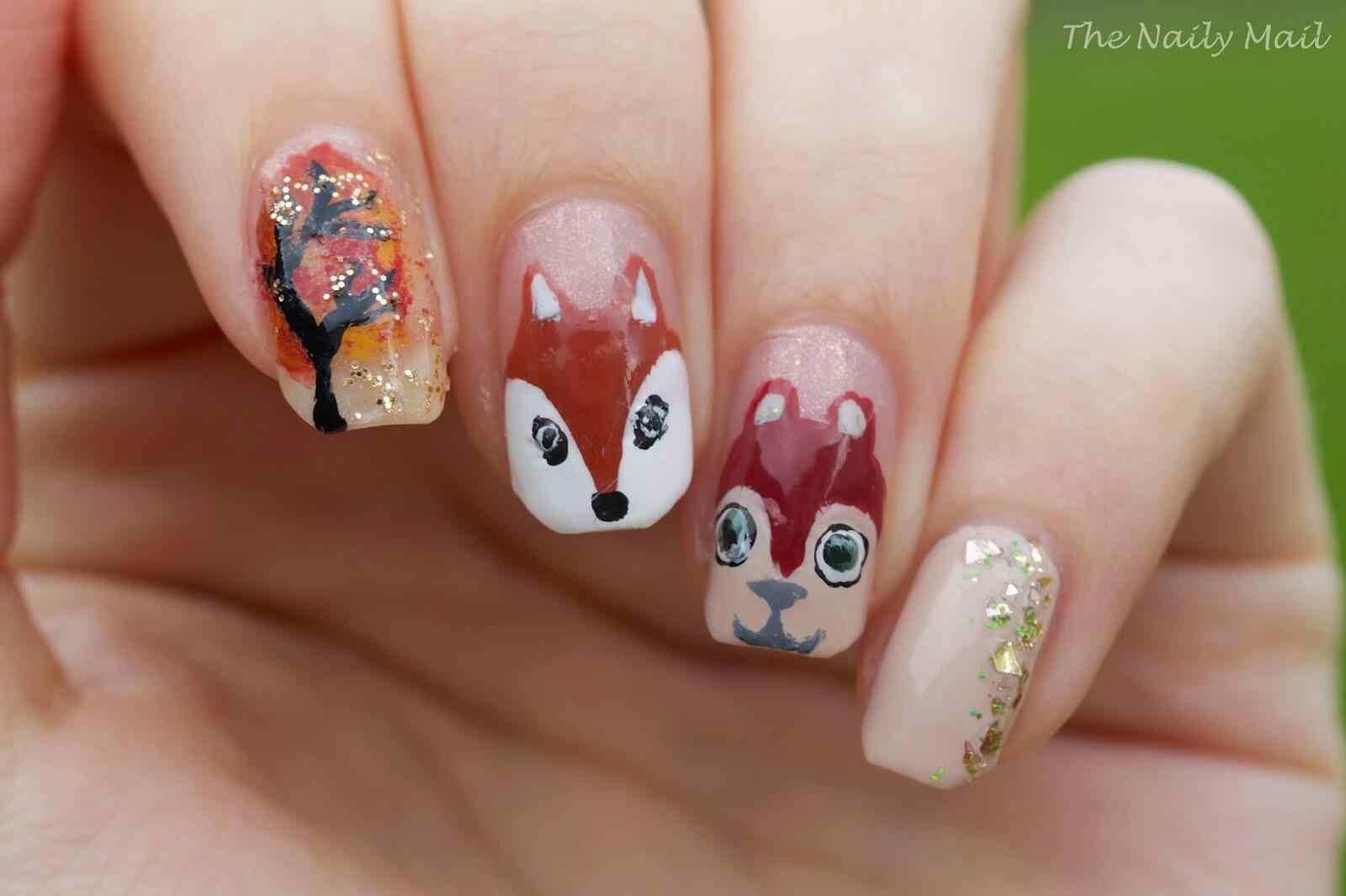 Autumn nail art (10)