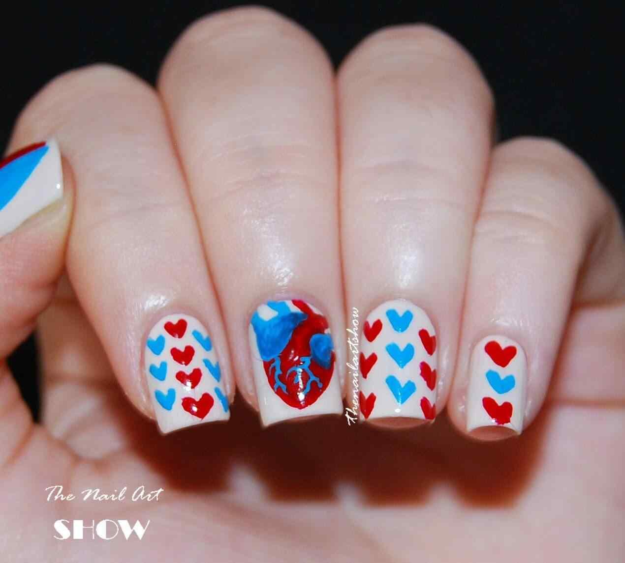 heart nail art (3)