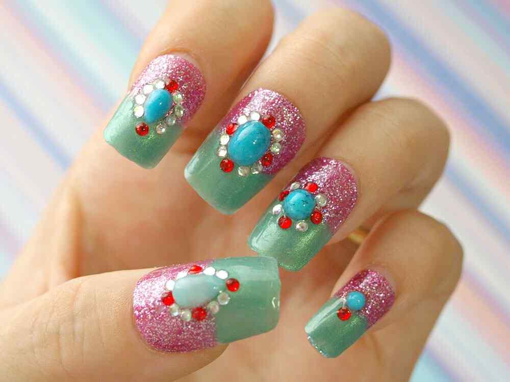 quinceaneras nail art (12)