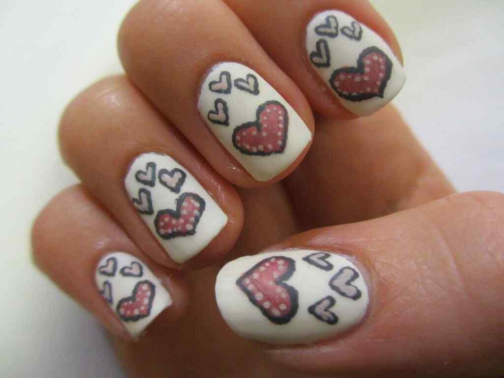 unas corazones amor dia enamorados (1)
