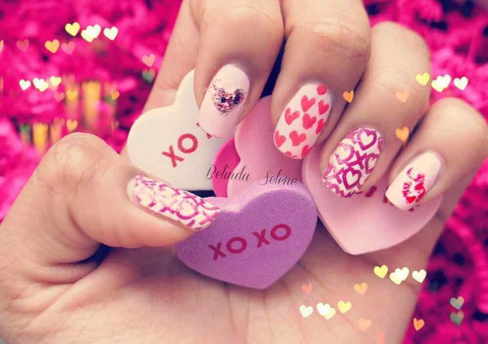 unas decoradas san valentin corazones (3)