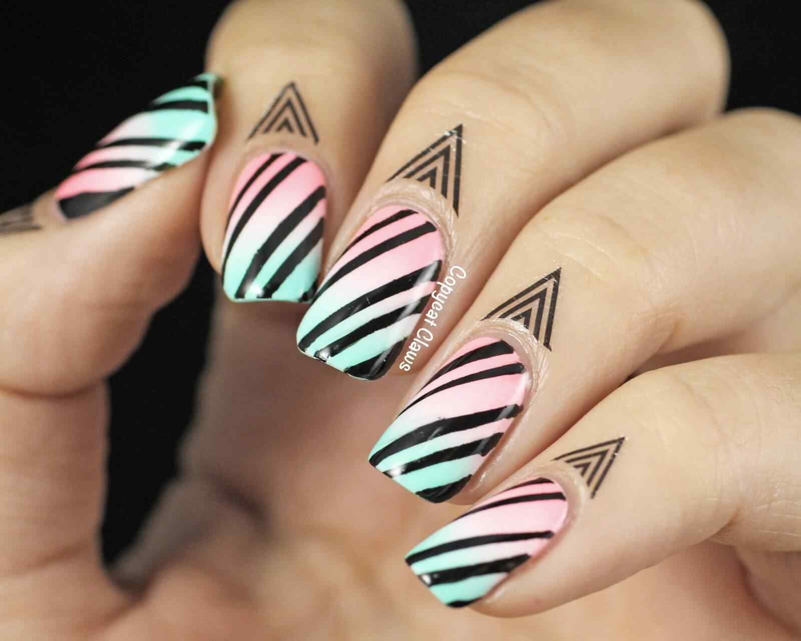 cuticle tattoo nail art (14)