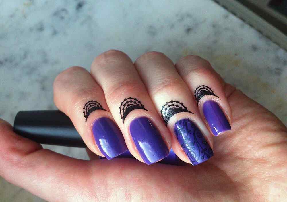 cuticle tattoo nail art (3)