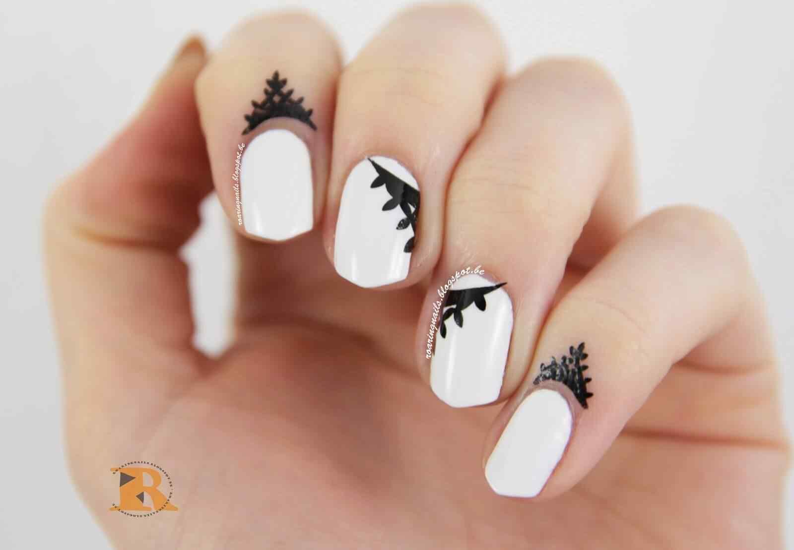 cuticle tattoo nail art (7)