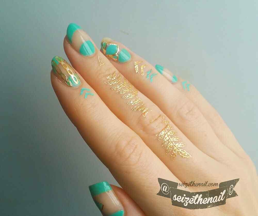 cuticle tattoo nail art (8)